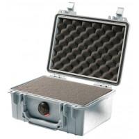 Кейс Pelican 1150 Protector Case с поропластом серебро 1150-000-180E