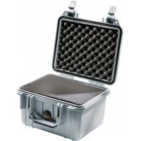 Кейс Pelican 1300 Protector Case с поропластом серебро 1300-000-180E