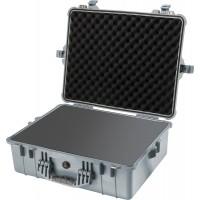 Кейс Pelican 1600 Protector Case с поропластом серебро 1600-000-180E