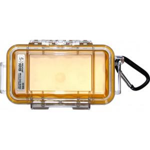 Кейс Pelican 1015 Micro Case прозрачный с желтым вкладышем 1015-007-100E