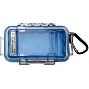 Кейс Pelican 1015 Micro Case прозрачный с голубым вкладышем 1015-006-100E