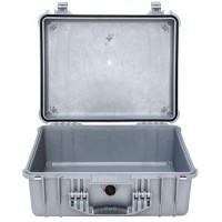 Кейс Pelican 1550 Protector Case без поропласта серебро 1550-001-180E