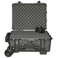 Кейс Pelican 1560M Protector Mobility Case с усиленной колесной базой с поропластом черный 015600-0009-110E