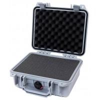 Кейс Pelican 1200 Protector Case с поропластом серебро 1200-000-180E
