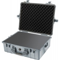 Кейс Pelican 1600 Protector Case с поропластом серебро 1600-000-180
