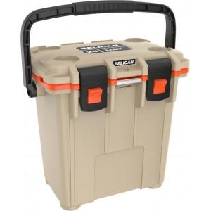 Холодильник Elite Cooler бежевый/оранжевый Pelican 20QT