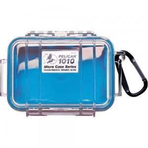 Кейс Pelican 1010 Micro Case прозрачный с голубым вкладышем 1010-026-100