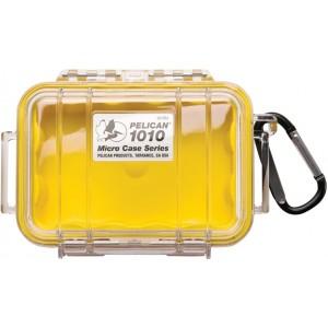 Кейс Pelican 1010 Micro Case прозрачный с желтым вкладышем 1010-027-100