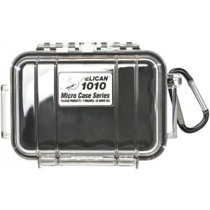 Кейс Pelican 1010 Micro Case прозрачный с черным вкладышем 1010-025-100