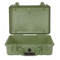 Кейс Pelican 1500 Protector Case без поропласта зеленый 1500-001-130
