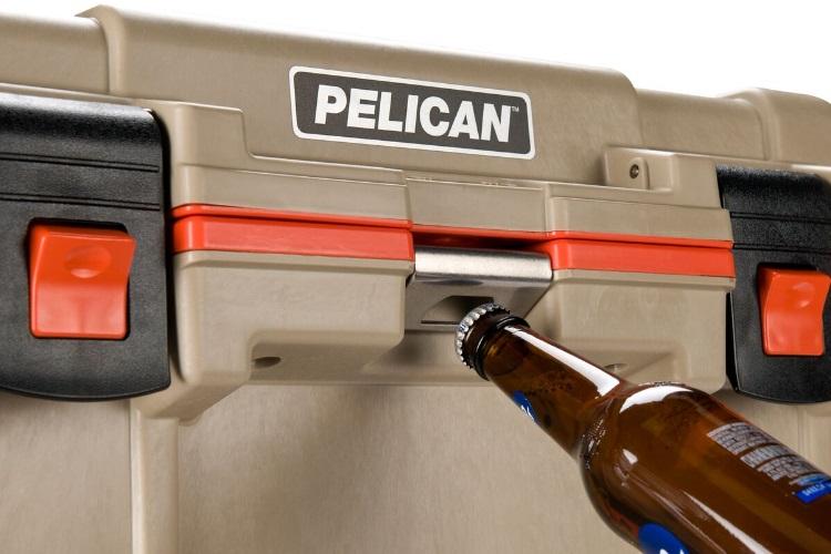 Холодильник Elite Cooler бежевый/оранжевый Pelican 70QT
