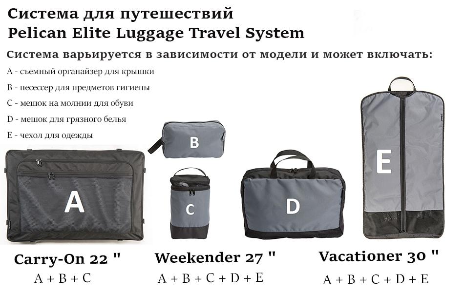 Система для путешествий Pelican Elite Luggage Travel System