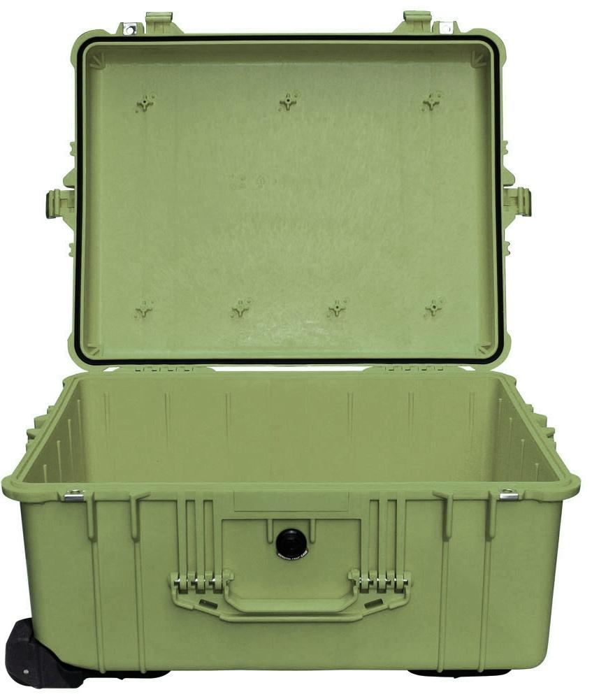 Защитный кейс Pelican большого размера модель Pelican 1610 Protector Case без поропласта зеленый 1610-001-130E